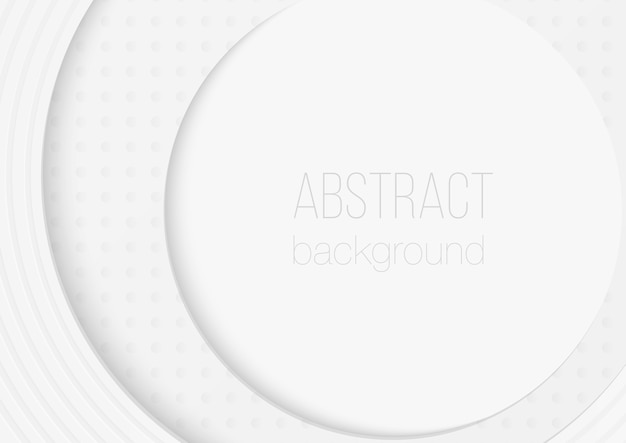 Abstract volumetric 3d circle rounded paper cuted art background