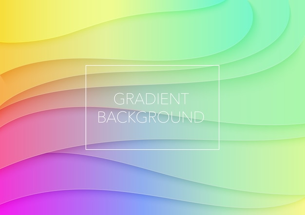 Abstract volumetric gradient color paper cuted art illustration. vector design layout for posters, business presentations, flyers