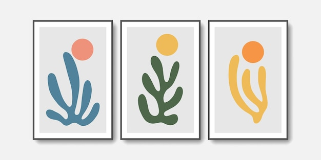 Abstract wall art matisse collection