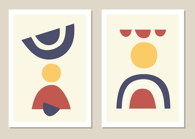 抽象的な壁アートセット。抽象的な虹