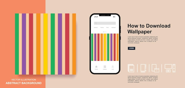 Abstract wallpaper background social media post templates design