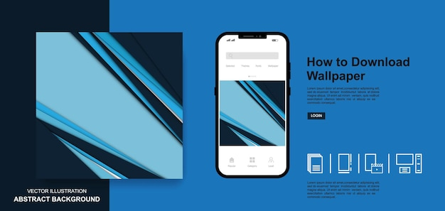 Abstract wallpaper blue color background social media post templates design