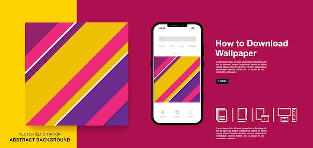 Abstract wallpaper colorful background social media post templates design