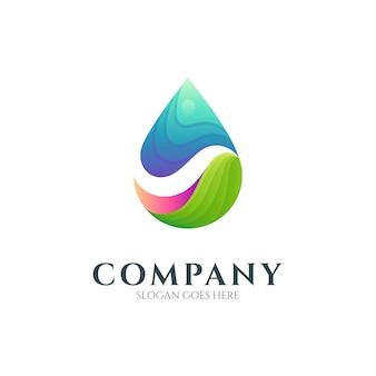 Abstract water drop logo design