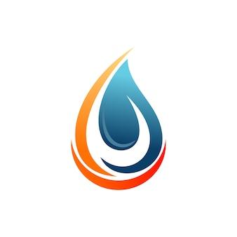 Абстрактный логотип капли воды