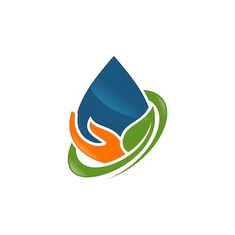 抽象的な水滴のロゴ