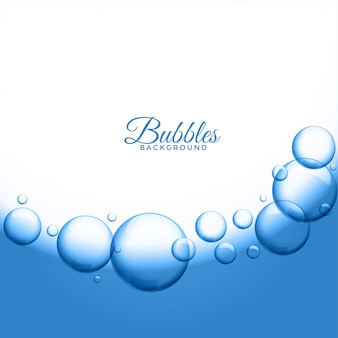 Abstract water or soap bubbles background