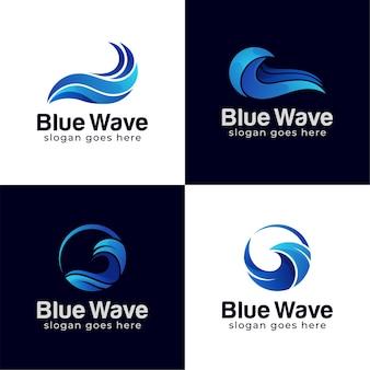 抽象的な水の波のスプラッシュのロゴのシンボルとアイコンのデザイン