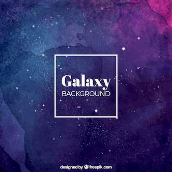Astratto sfondo acquerello di galassia