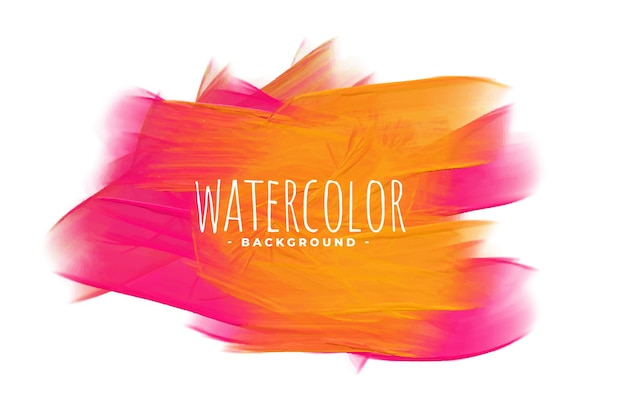 Abstract watercolor background in pink and orange shade