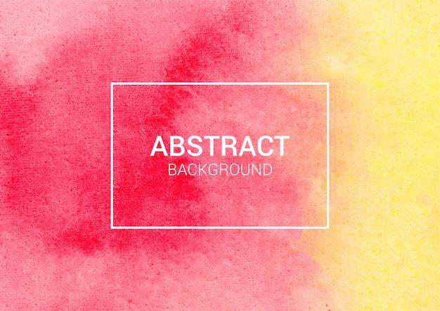 抽象的な水彩画の背景、赤と黄色の水彩紙テクスチャ
