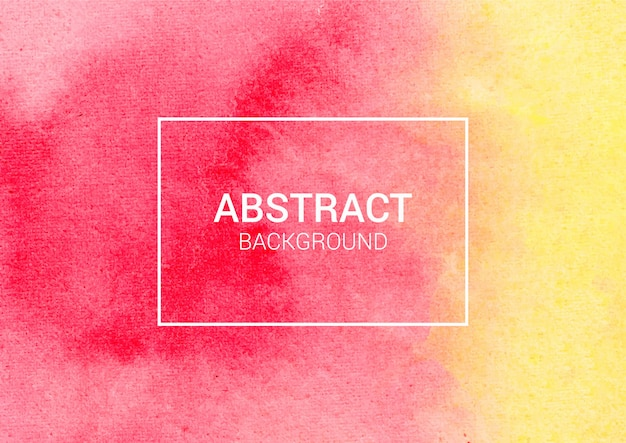 Abstract watercolor background, red and yellow watercolor paper texture