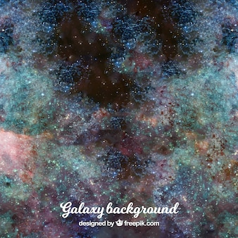 Abstract watercolor background of universe