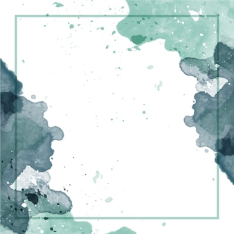 Abstract watercolor background with frame