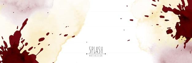 手描きのスプラッシュと抽象的な水彩画の背景。