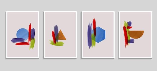 染み要素を持つ抽象的な水彩画の背景