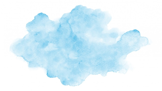 Abstract watercolor blue cloud