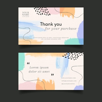Abstract watercolor brush business card