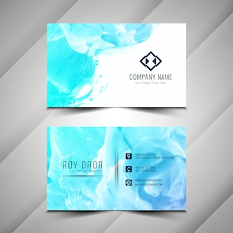 Abstract watercolor business card design