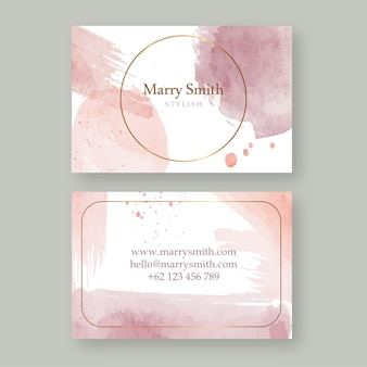 Abstract watercolor business card template