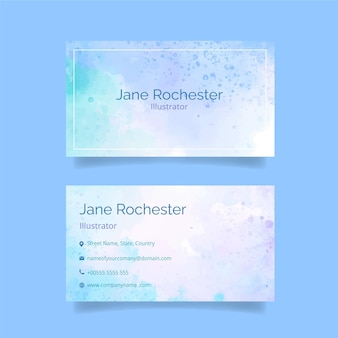 Abstract watercolor business card
