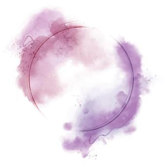 Абстрактная акварель круглая рамка