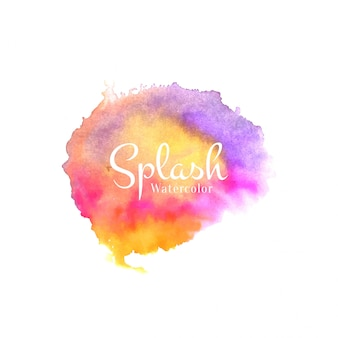 Abstract watercolor colorful splash design vector