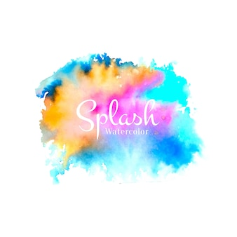 Abstract watercolor colorful splash design