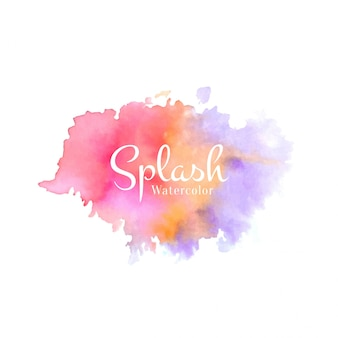 Abstract watercolor colorful splash