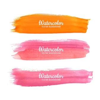 Abstract watercolor colorful strokes vector