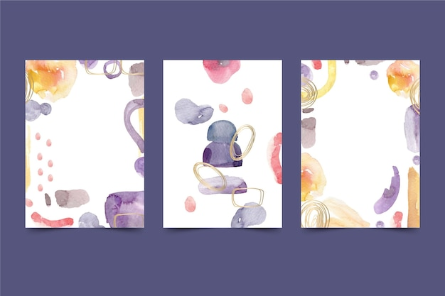 Abstract watercolor cover print template