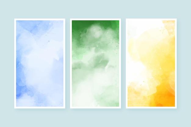 抽象的な水彩画カバーコレクション