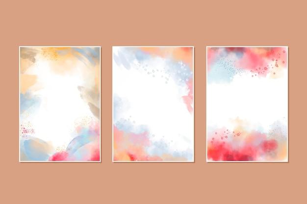 Collezione di copertine di acquerelli astratti