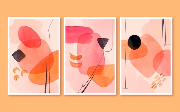 Abstract watercolor covers collection