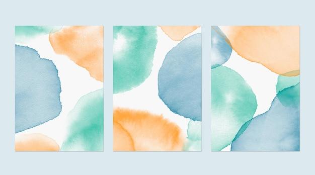 抽象的な水彩カバー