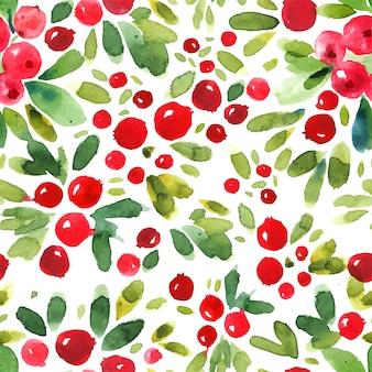 추상 수채화 cowberry 완벽 한 패턴