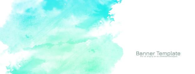 抽象的な水彩デザインバナー