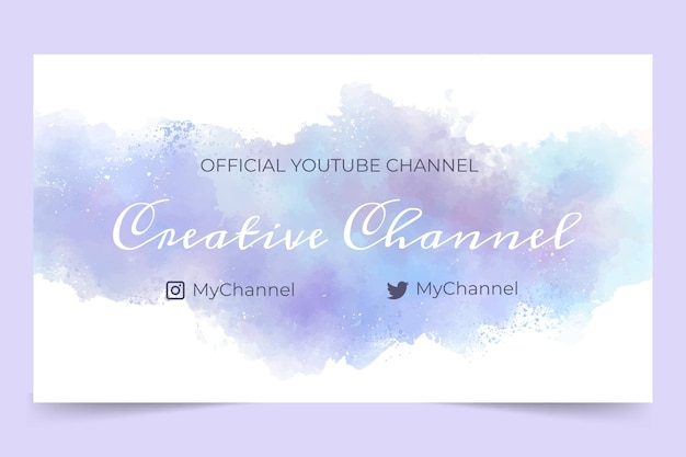 Abstract watercolor facebook cover template