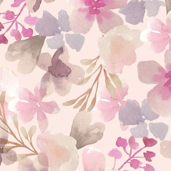 Abstract watercolor floral pattern design