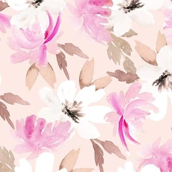 Disegno astratto del motivo floreale dell'acquerello