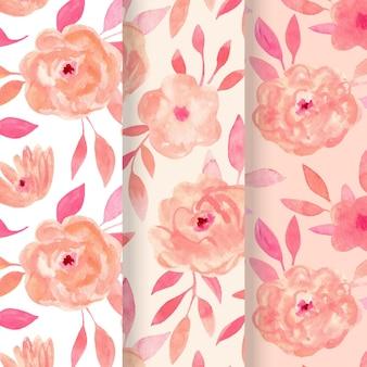 抽象的な水彩花柄