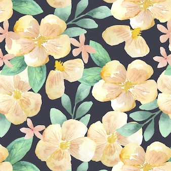 Motivo floreale acquerello astratto