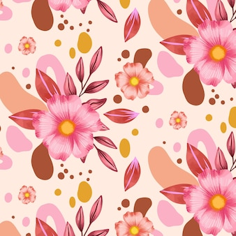 Abstract watercolor floral pattern
