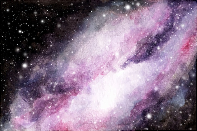 Abstract watercolor galaxy sky background