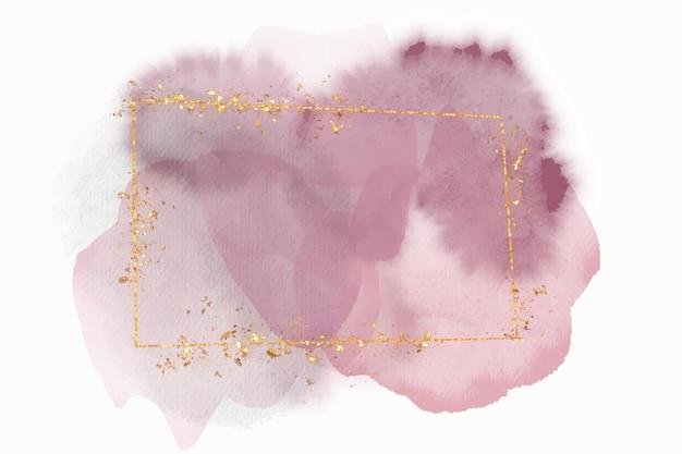 Абстрактная акварель золотая рамка