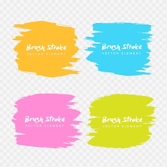 Abstract watercolor grunge brush frame collection