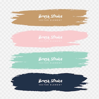 Abstract watercolor grunge brush stroke set