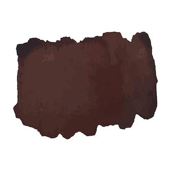 Абстрактная акварель рисованной текстуры, изолированные на белом фоне, темно-коричневый акварельный фон текстуры