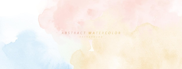 Abstract watercolor hand-painted for background. rainbow watercolor stains vector texture is ideal for element in the decorative design of header, cover, or banner, brush included in file.