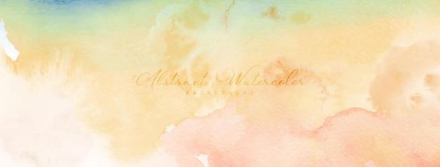 Абстрактная акварель ручная роспись. оранжевые желтые акварельные пятна